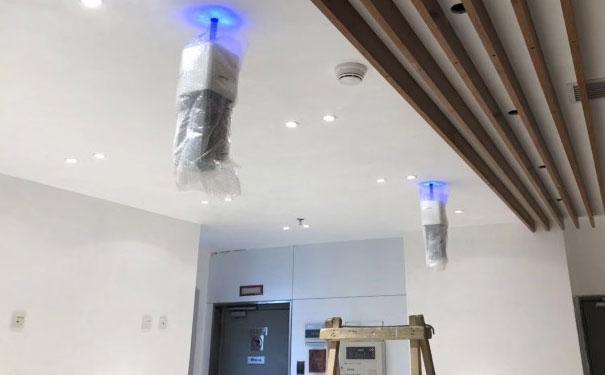首都机场安装薇伊负离子空气净化器进行无害灭微